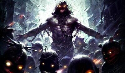 Disturbed Cover art TCG playmat, gamemat 60cm wide 36cm tall for trading card ga