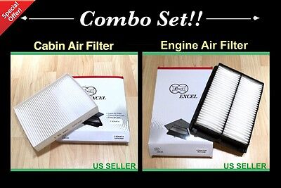 COMBO SET Engine&Cabin Air filter For 15-18 Hyundai Sonata 2.4L Engine Only