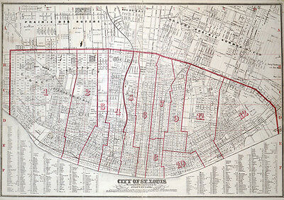 1870 Map of City of St. Louis Missouri
