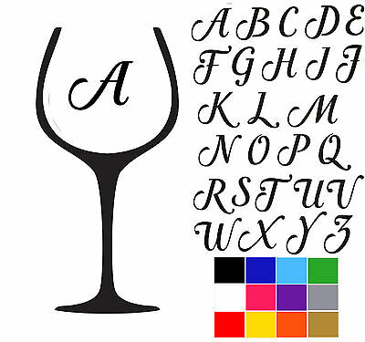 Wine Glass Stickers Full Alphabet Stickers Drinking Glass Stickers Beer Glass.
