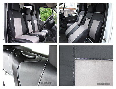 Tailored seat covers for Mercedes Sprinter  2014   Leatherette + Alcantara