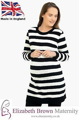 PLUS SIZE* Stripped Soft Knitted Maternity Jumper 18-20 22-24 26-28