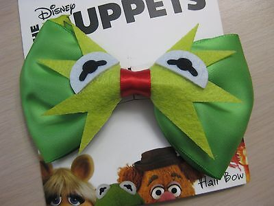Disney Muppets Kermit the Frog Bow Barrette Alligator Clip Cosplay New