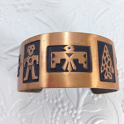 Bell Trading Company Solid Copper Graphic Cuff Bracelet