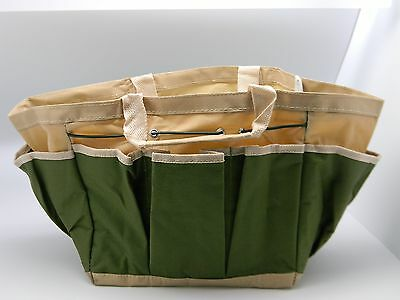 Gardening Organizer Bag for tools gloves stakes string seeds 8 outer pockets