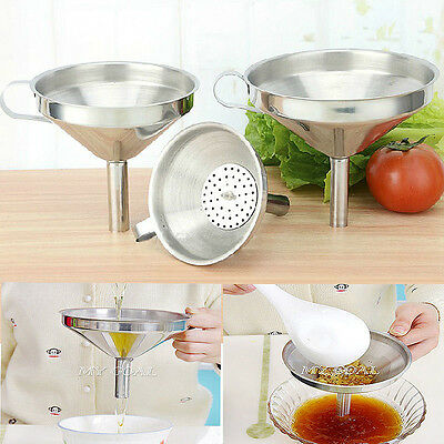 3 Sizes Stainless Steel Wide Mouth Coffee Funnel Mesh Strainer Removable Filter