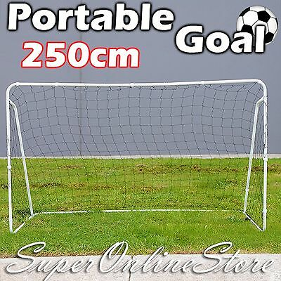 240cm x 150cm Large Portable Soccer Goals Powder Coated Steel Frame Football Net