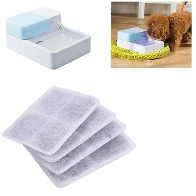 4pcs Activated Carbon Filter Replace for Pet Dog Water Fountain