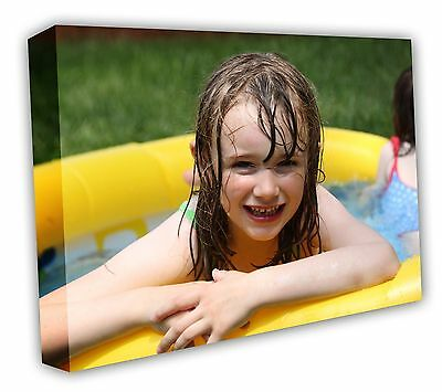 CANVAS PRINT YOUR PHOTO ON A3 personalised BOX CANVAS DEEP FRAMED 16X12