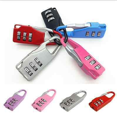 Combination Password Lock Padlock For Travel Diary Luggage Suitcase Locker CA