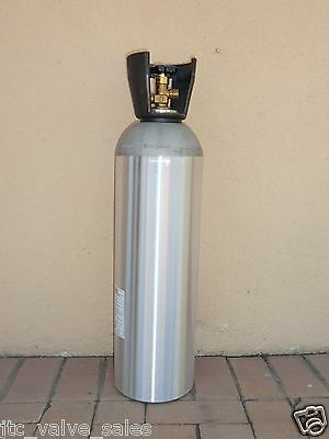 CO2 15 LB Aluminum Cylinder Tank - CGA 320 VALVE, CARRY HANDLE (HOMEBREWED BEER)