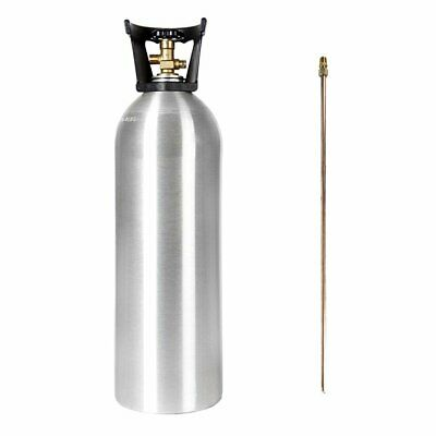 CO2 20 LB ALUMINUM CYLINDER TANK NEW with DIP TUBE - CGA 320 VALVE, CARRY HANDLE