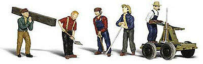 Rail Workers with accessories - HO - Model Train Layout - Woodland Scenics