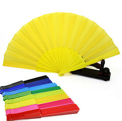 Plastic Party Hand Portable Dancing Fan Chinese Japanese Decor Folding Wedding