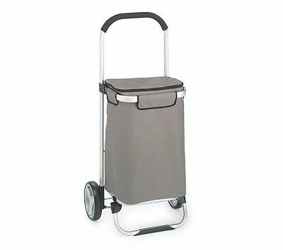 Foldable Shopping Tote Grocery Cart Folding Basket Travel Rolling Trolley Wheels