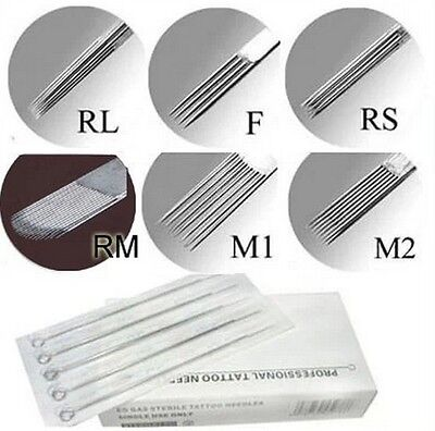 5/10/20pcs Tattoo Disposable Needles RL RS F M1 M2 Size You Pick Size