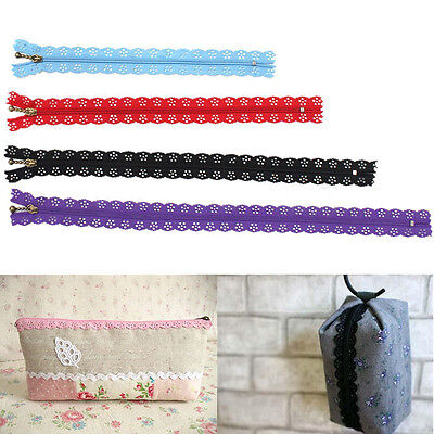 10x Color Nylon Closed End Lace Zipper Puller For Tailor Sewing DIY Craft