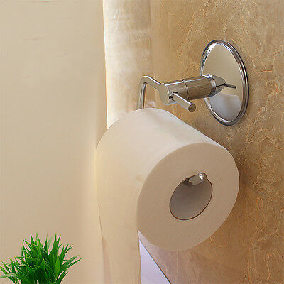 Stainless Steel Chrome Wall Mounted Bathroom Toilet Paper Tissue Roll Holder