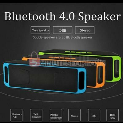 Bluetooth Wireless Speaker A2DP Portable Stereo Mega Bass with FM For Cellphone