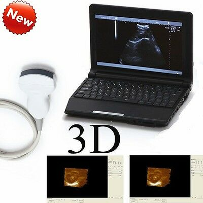 B ultrasonic Machine  VEt/Veterinary Laptop Ultrasound Scanner +3.5 Convex Probe