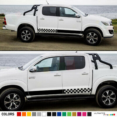 Sticker Decal for Toyota Hilux pickup Stripe Graphics door body 2012 chrome 2016
