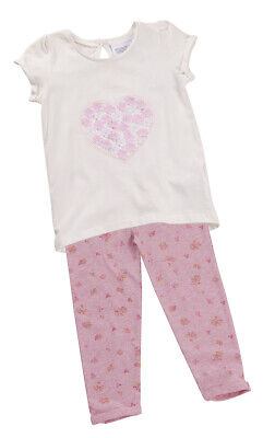 MINIKIDZ Infant Girl Top and Legging Heart Flowers New Pretty Outfit 2-6 Years