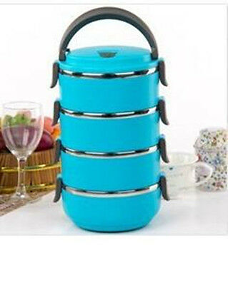 1-4 Layers Container Handle New Thermal Insulated Lunch Box Stainless Steel Food