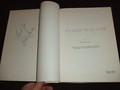 SIGNED 1973 Its Good To Be Alive Script Cast Campanella Dodgers HC Bound FOY III