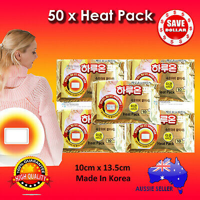 50pc Haruon Pack Instant Heat Patch Body Warmer Hot Pad Heating warm 12 hours