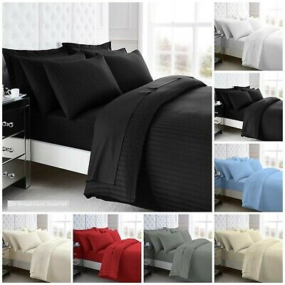 100% Egyptian Cotton 200 Thread Count Fitted Sheets, Flat Sheets & Pillow Cases