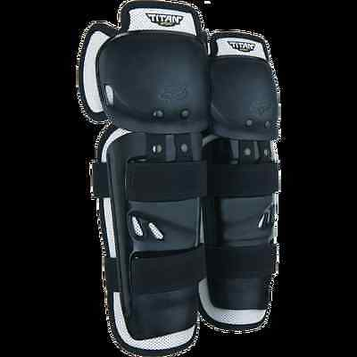 Fox Racing Youth Titan Sport Knee/shin Guardss Mx Bmx  Protection Youth One Size