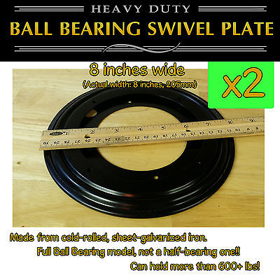 2 pcs - 8 inch (205mm) - Full Ball Bearing Swivel Plate Lazy Susan Turntable