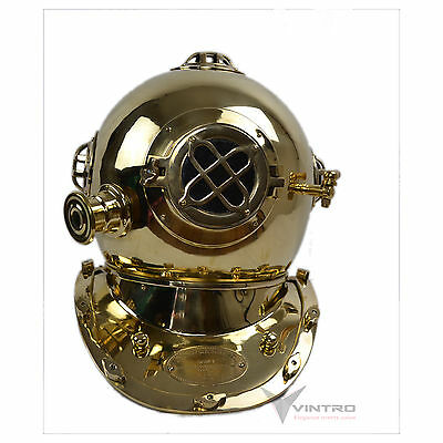 Diving Helmet Full Size Nautical Brass US Navy Home Decor Retro Decor