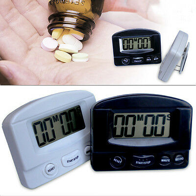 Magnetic Stand LCD Count Down Up Digital Kitchen Cooking Loud Alarm Timer Clock