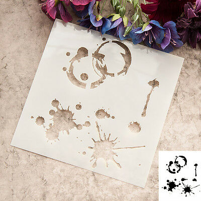 Handwork Scrapbooking card DIY album masking spray paint stencils ink Watermark