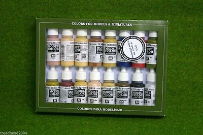 VALLEJO FACE & SKINTONES Model Colour 16 bottle set 70125