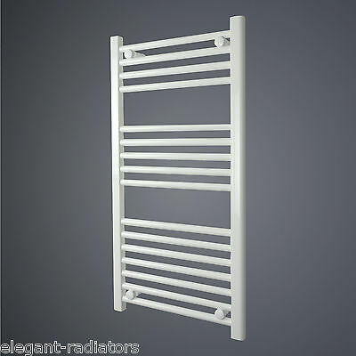 600 mm Wide 800 mm High Flat White Heated Towel Rail Radiator Bathroom Kitchen