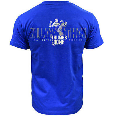 T-Shirt Thumbsdown Muay Thai ! Ideal For Mma, Training, Casual Wears! Ts324 Rbl