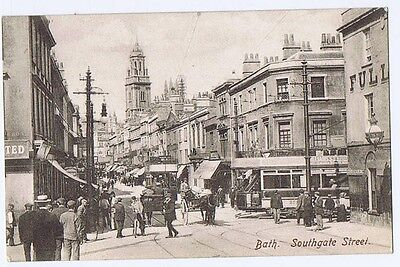 BATH Southgate Street, Busy Scene, Postcard by Frith Unused