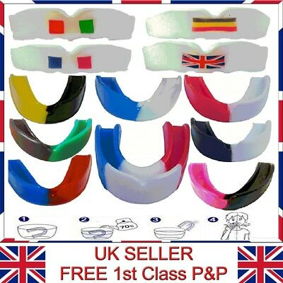 Senior & Junior MultiColor High Quality Lightly Flavoured Gum Shield Mouth Guard