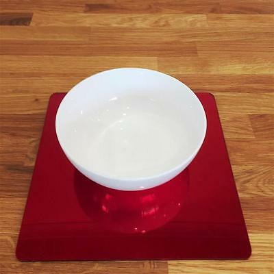 Mirrored Red Square Placemat Set