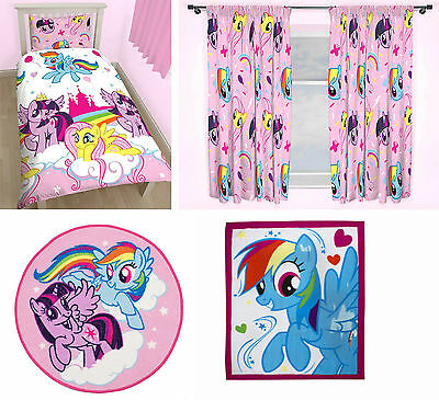 My Little Pony Equestria Single Duvet Quilt Cover Curtains Rug Blanket 4 Choices