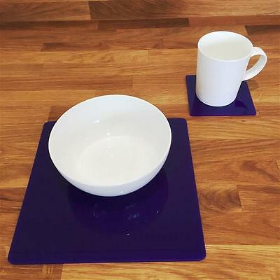 Purple Square Placemat and Coaster Set
