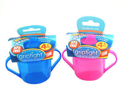 Griptight - First Trainer Sippy Sipper Cup with Easy Grip Handles - 180ml - 4M+