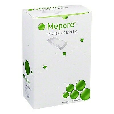 Mepore Adhesive Surgical Dressing 11 x 15cm 1Box contains 40 dressings