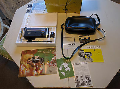 Vintage Bolex Paillard 7.5 Macrozoom Super 8 21 mm movier camera w/ box & manual