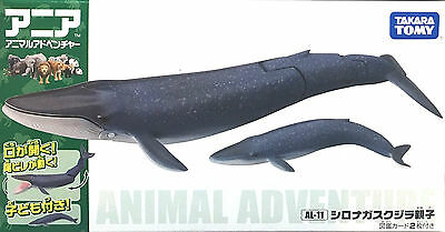 Tomy Animal series Ania AL-11 blue whale parent and child