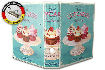2 Ring Binder Lever Arch Folder A4 printed Cupcakes