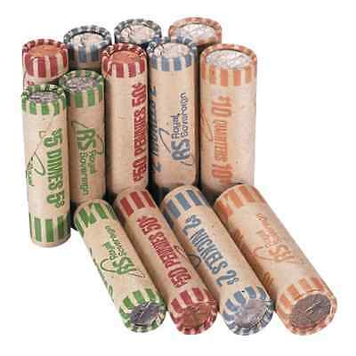 Royal Sovereign Assorted Coin 216 Count Preformed Wrappers Change Sorting Rolls