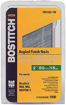 Stanley Bostitch FN1532-1M 1,000-Pack 2-Inch 15-Gauge Finish Nails